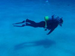 正しい姿勢で泳ぐ