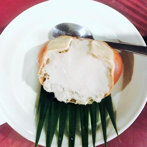 カニのココナッツソース