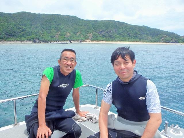 慶良間諸島にて