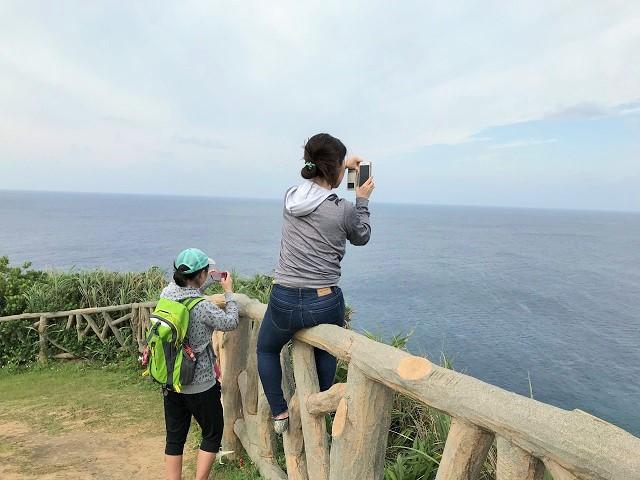遠くに台湾見えるかな?
