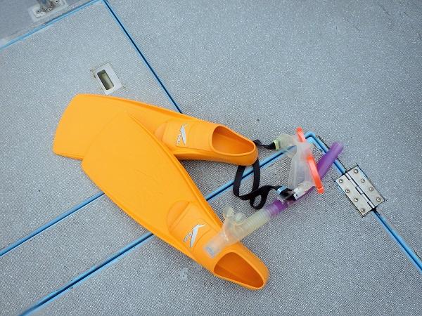 ボートダイビング時は器材をコンパクトにまとめましょう