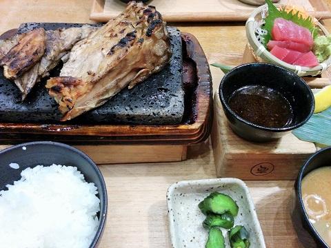 カジキハーモニカ炭火焼き定食